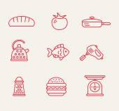 Kitchen seamless pattern. — Stock Vector