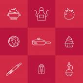 Icons Kitchen — Stock Vector