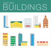 Building icon set. Abstract architecture — Wektor stockowy