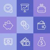 Business icons set.Vector illustration — Stock Vector