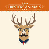 Background and greeting card with hipster deer — Wektor stockowy