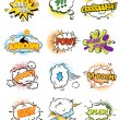 Set of Retro Comic Book Vector Design elements, Speech and Thought Bubbles illustration — Stock Vector #64198299