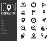 Map and location icon — Vector de stock