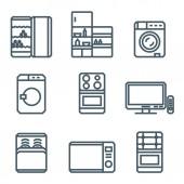 Home appliances modern concept — Stock Vector