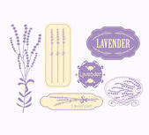 Vintage lavender background, aromatherapy and spa packaging design — Vector de stock