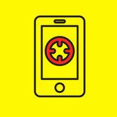 Navigation application vector smartphone — Stock Vector