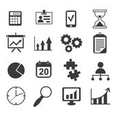 Business analyst marketing icon set — Stock Vector