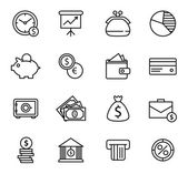 Finance and bank Icon Set. — Stock Vector