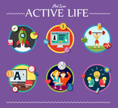 Active life collection — Stock Vector