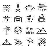 Travel symbols — Stock Vector