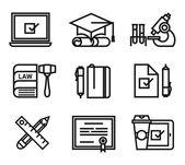 Training vector icon, education, school — Stock Vector