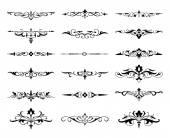Graphic elements calligraphic — Vector de stock