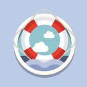 Lifebuoy, Travel icon — Stok Vektör