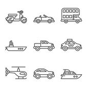 Transport icons on white — Stock Vector