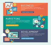 Banners for websites flar design style — Stockvector