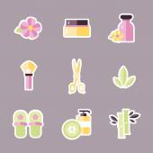 Various spa icons — Stock Vector