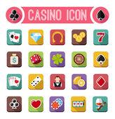 Casino flat icons — Stock Vector