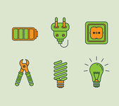 Ecological Icons Set — Stock Vector