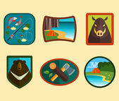 Set of Camping Symbols — Stock Vector