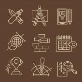 Creative process concept icons — Stock Vector