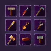 Ícones de armas medievais — Vetor de Stock