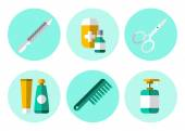 Hygiene icons set — Stock Vector