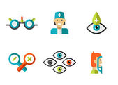 Ophthalmology icons set — Stock Vector