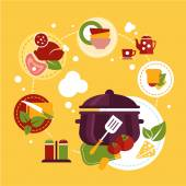 Perfect food set for cooking — Stock Vector