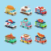 Food truck icon designs — Stock Vector