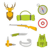 Hunting  icon set — Stock Vector