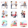 Flat icons set — Stock Vector #74526353