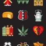 Netherlands symbols set — Stock Vector #76028427