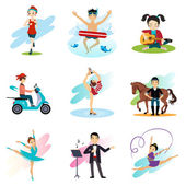 Active lifestyle, Hobbies, — Stock Vector