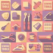 Set of objects for sewing — Stock Vector