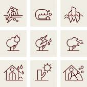 Set of icons into flat style. — Stock Vector