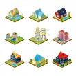 Private House 3d Isometric — Stock Vector #78042218