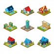 Private House 3d Isometric — Stock Vector #78042220
