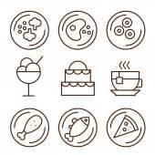 Conjunto de iconos de restaurante — Vector de stock