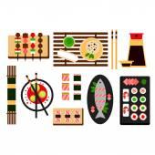 Restaurant asian cuisine Vector flat icon — Stock Vector