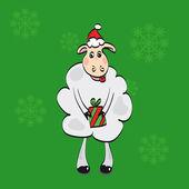 Ilustração de uma ovelha — Vetor de Stock