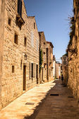 A street in Rab town — Stock Photo