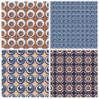 Set of  4 vector seamless geometrical patterns. — Stock Vector #61770943