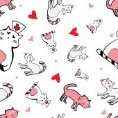 Láska kočky — Stock vektor
