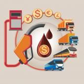 Icon for energy saving. — Stock Vector