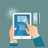 Koncepcja na sklep on-line. — Wektor stockowy