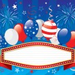 Fourth of july banner — Stock Vector #73058175