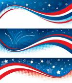 Fourth of july banners — Stock Vector