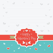 Happy Valentine's Day. Greeting Card 3 — Stock Vector