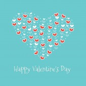Happy Valentine's Day. Greeting Card 2 — Stock Vector