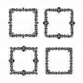 Vector decorative frames set — Stock Vector